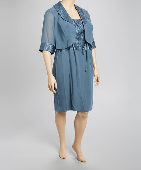 Seabreeze Tie-Front Sleeveless Dress & Jacket - Plus