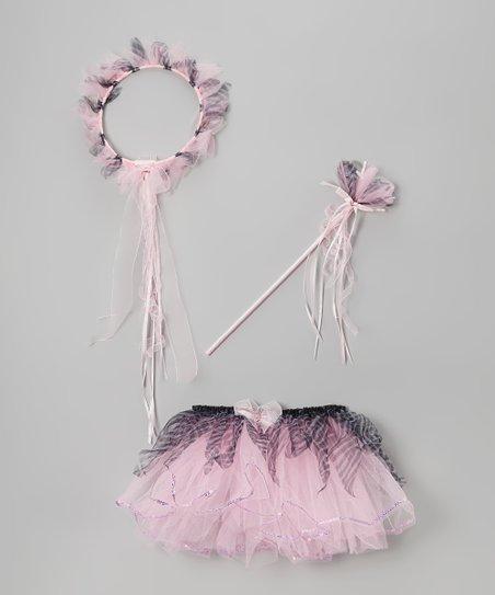 Light Pink Zebra Tutu Set
