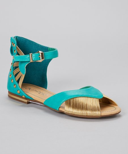 Teal Hope Sandal