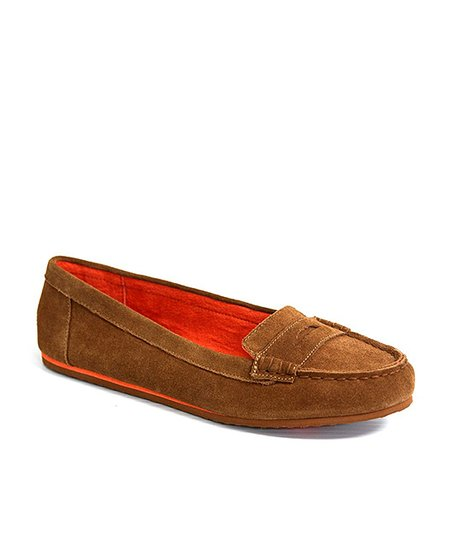 Chestnut Dooney Suede Loafer