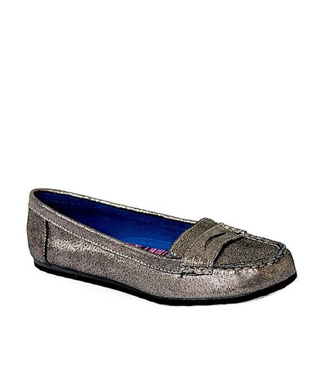 Pewter Dooney Suede Loafer