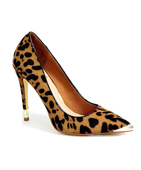 Tan Cheetah Emelda Pump
