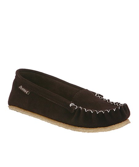 Chocolate Hailey Suede Moccasin - Women