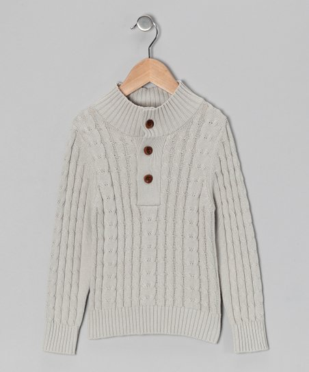 Stone Organic Cable-Knit Sweater - Toddler &amp; Boys