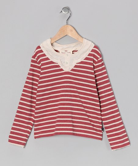 Red & Vanilla Stripe Jack Top - Toddler & Boys