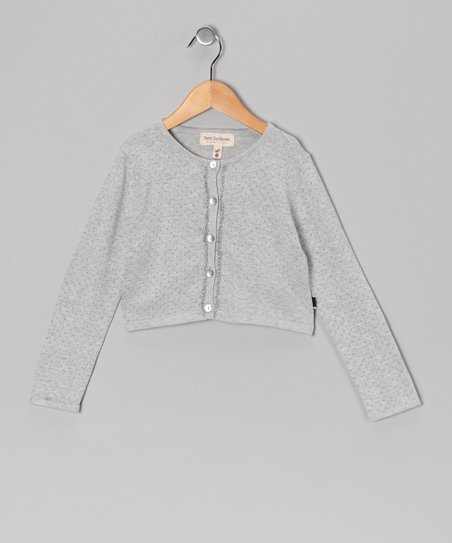 Gray Mélange Suri Cardigan - Toddler & Girls