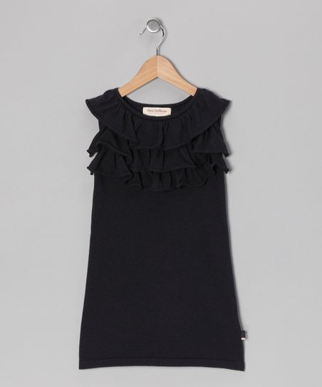 French Navy Milly Dress - Toddler & Girls