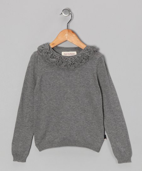 Gray Mélange Bella Sweater - Toddler & Girls