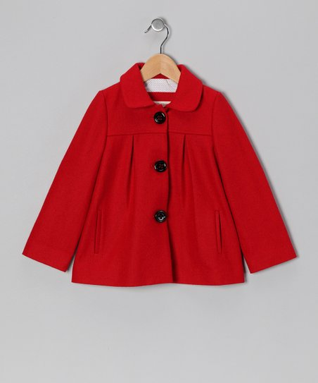 Red Amelie Wool-Blend Jacket - Toddler & Girls