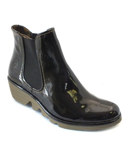 Black Patent Leather Phil Ankle Boot