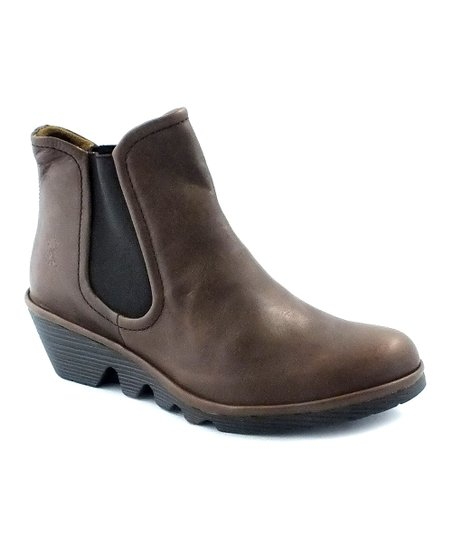 Brown Matte Leather Phil Ankle Boot