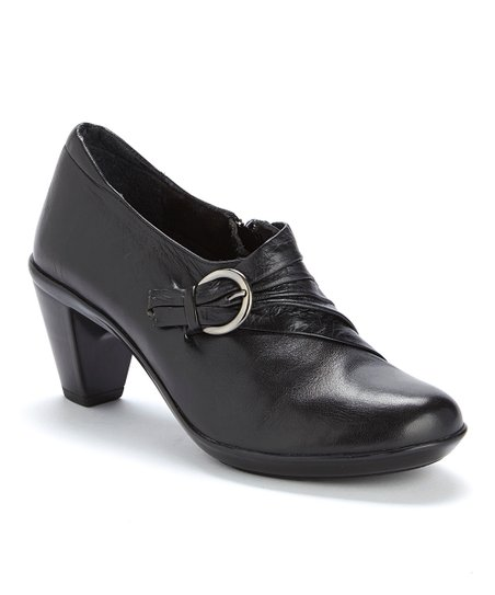 Black Christy Buckle Bootie