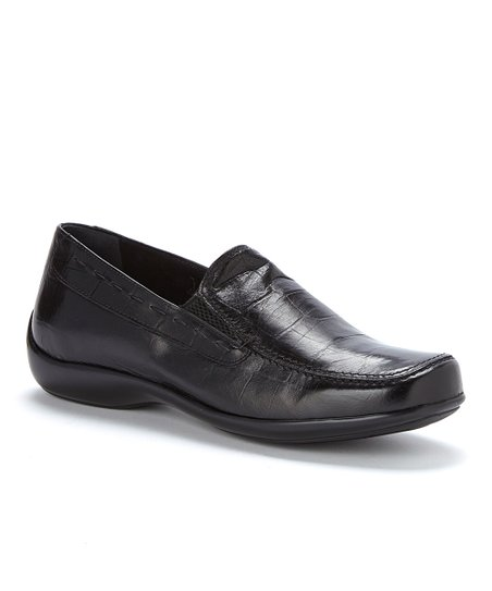 Black Patent Crocodile Modena Slip-On Shoe