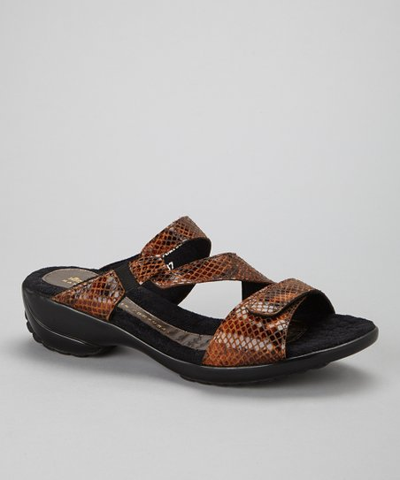 Bistre Miniboa Arriba Leather Sandal