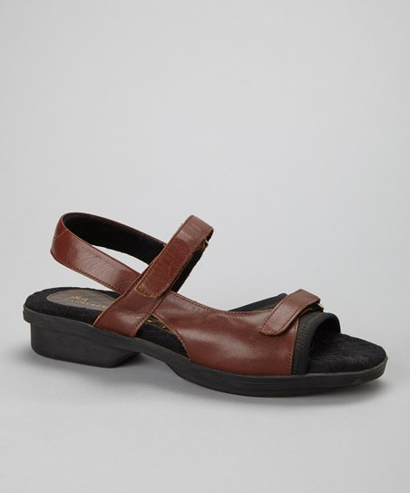 Brown Carmel Leather Sandal