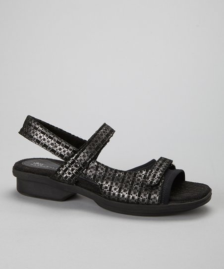 Black Carmel Leather Sandal