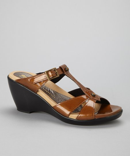 Honey Pearl Genevieve Leather Sandal