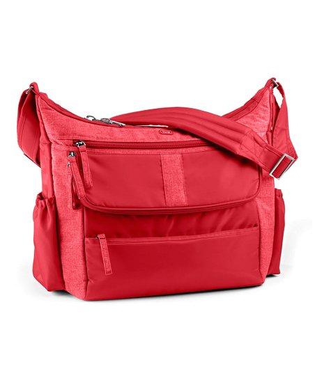 Crimson Red Hula Hoop Diaper Bag