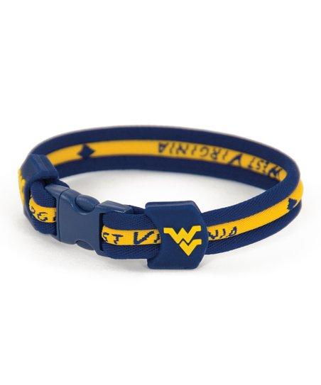 West Virginia Mountaineers Titanium Bracelet