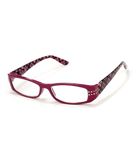Dark Pink Clubhouse Reading Glasses