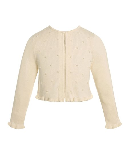 Candlelight Button Ruffle Cardigan - Toddler & Girls