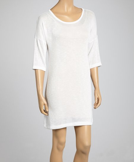 White Classic Shift Dress