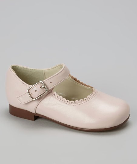 Pink Scalloped Leather Mary Jane