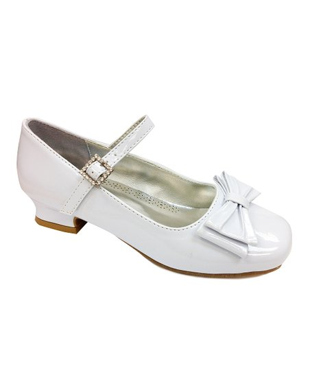 White Patent Bow Mary Jane