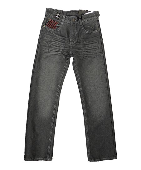 Dark Gray Denim Shine Jeans - Toddler & Boys