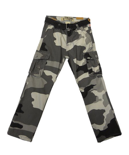 Black Camo Belted Cargo Pants - Toddler