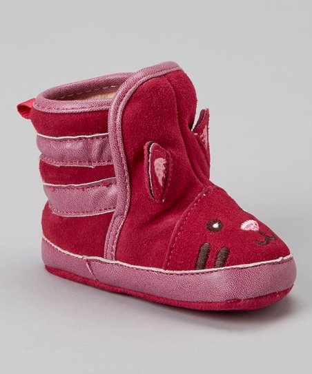 Pink Suede Cat Moosy Bootie