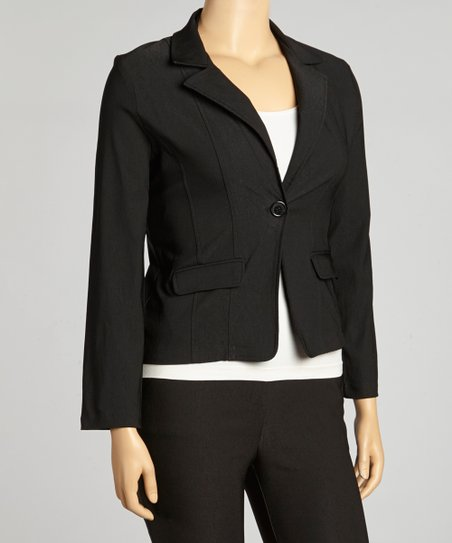 Black Millennium Basic Blazer - Plus