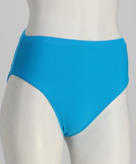 Sunsets Caribbean Blue Seamless High-Waisted Bikini Bottoms