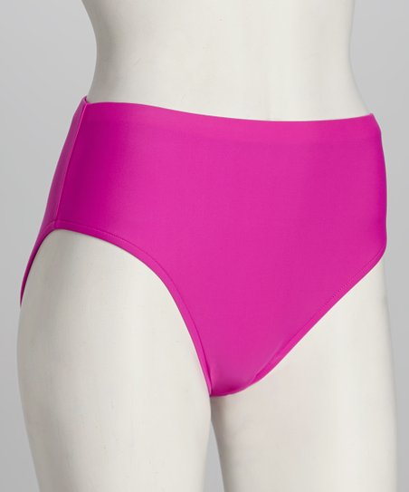 Sunsets Fuchsia Seamless High-Waisted Bikini Bottoms
