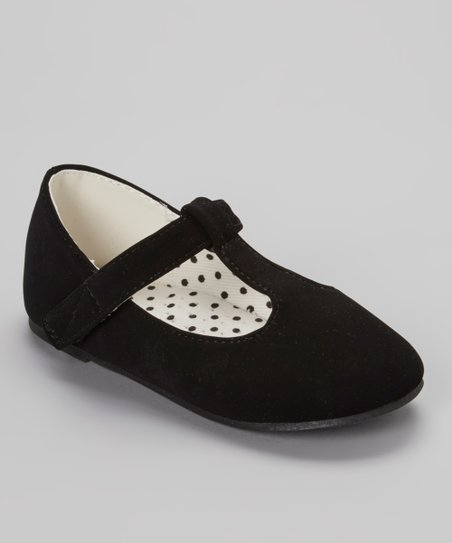 Black Lovely T-Strap Shoe