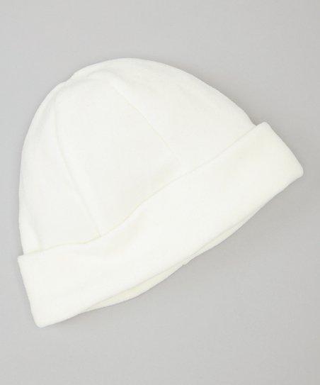 Ivory Fleece Cuffed Hat