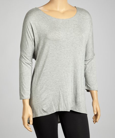 Light Gray Dolman Tunic - Plus