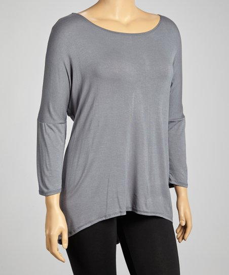 Charcoal Dolman Tunic - Plus