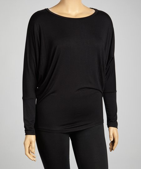 Charcoal Dolman Top - Plus