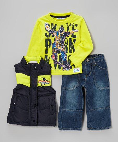 Navy Skateboard Vest Set - Infant