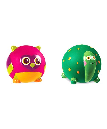 Green Turtle & Owl Bath Squirter Set
