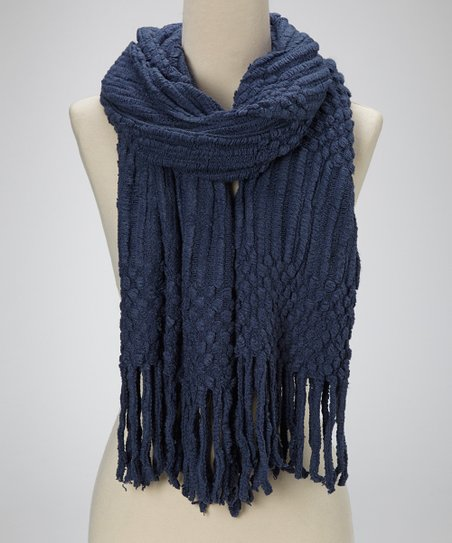 Cobalt Blue Textured Scarf