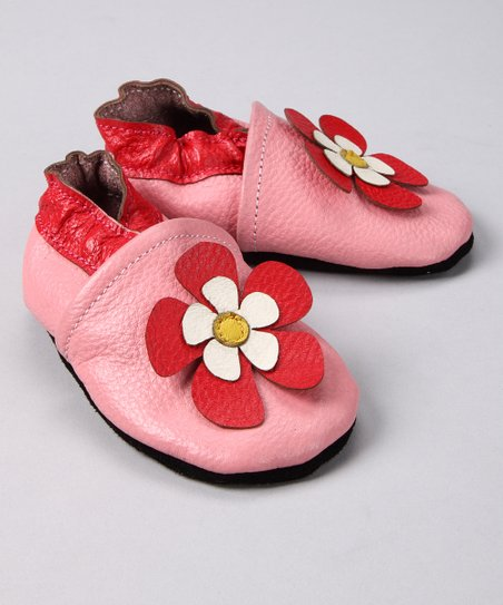 Pink Hawaii Flower Booties