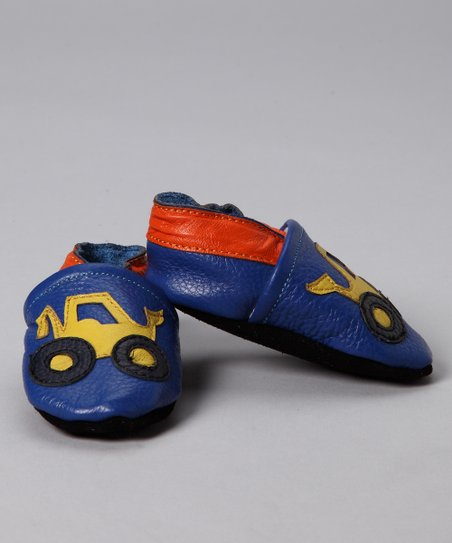 Blue & Yellow Truck Booties