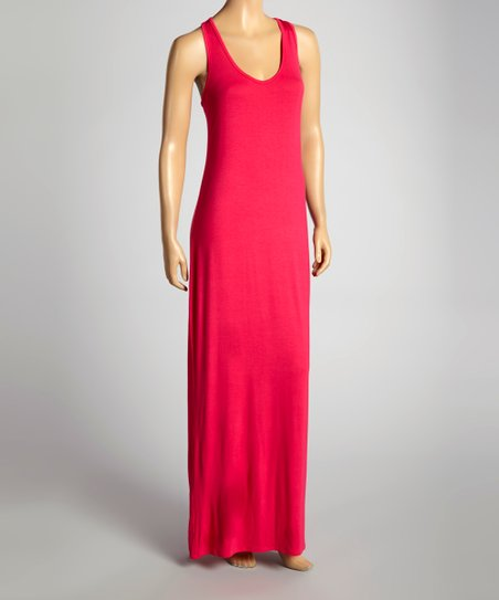Fuchsia Racerback Maxi Dress