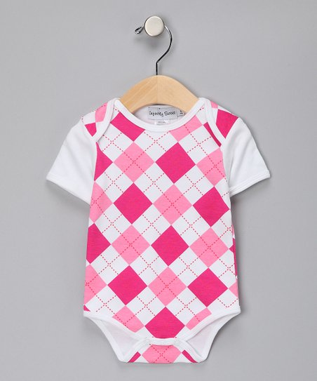 Hot Pink Argyle Bodysuit - Infant