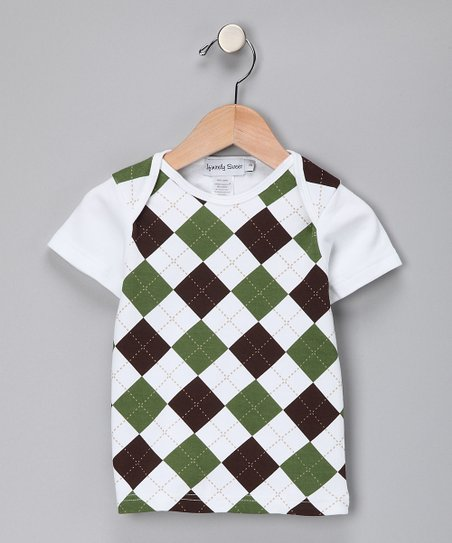 Green &amp; Brown Argyle Tee - Toddler