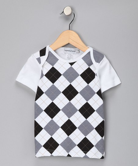 Gray & Black Argyle Tee - Toddler