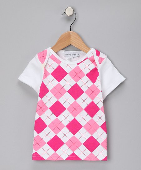 Hot Pink Argyle Tee - Toddler & Girls