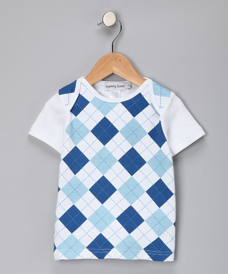 Royal Blue Argyle Tee - Kids
